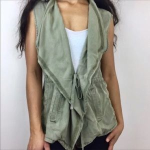 Max jeans large army green vest